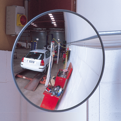 "Stop Light For Garage Wall: 18"" Garage Mirror"