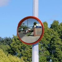 "24"" high visibility traffic mirror"