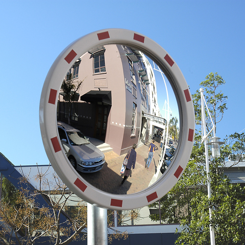 "24"" reflective safety traffic mirror"